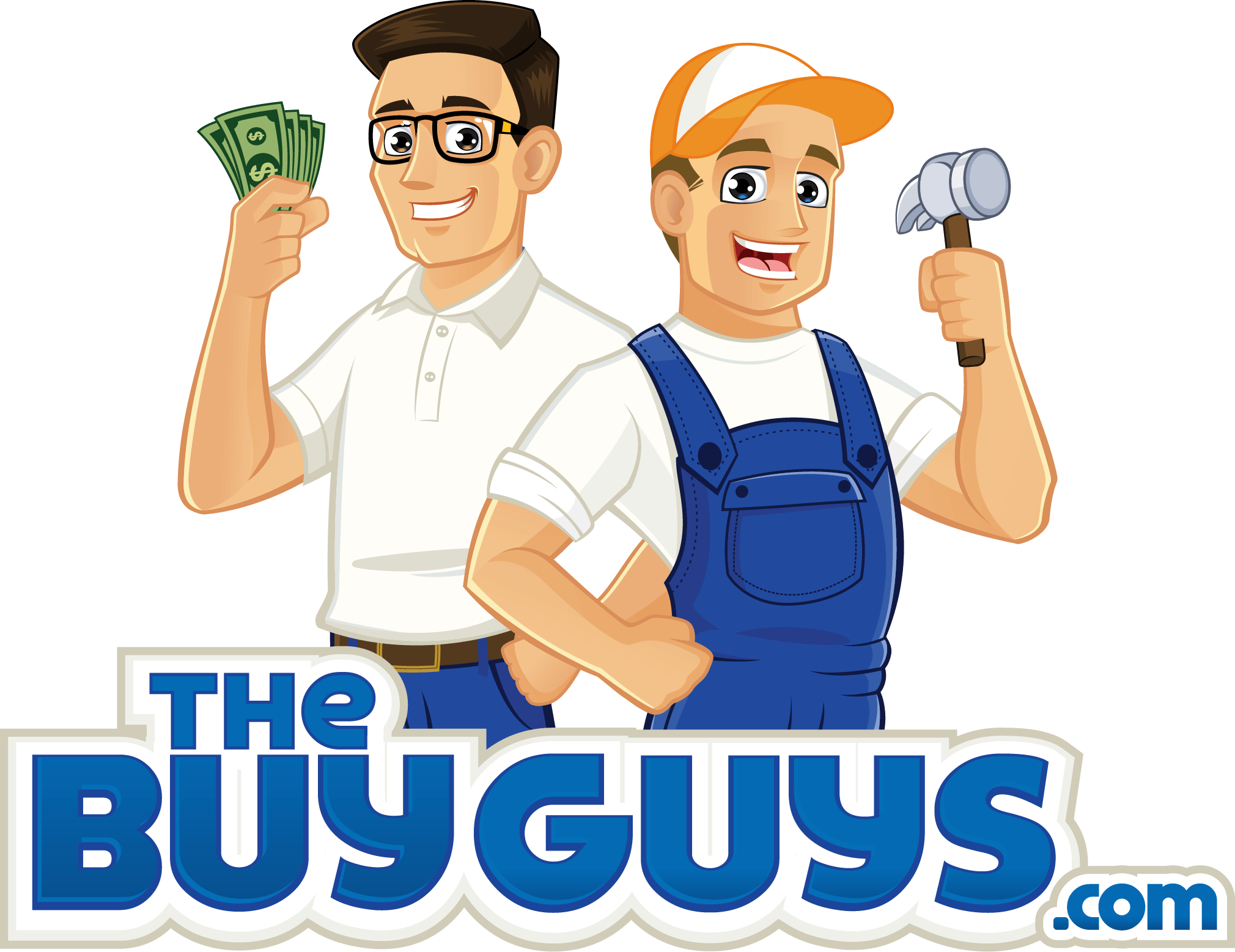 The Buy Guys logo of two cash home buyers.
