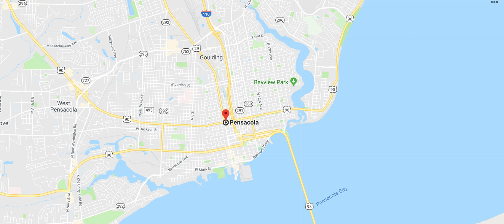 map of pensacola florida
